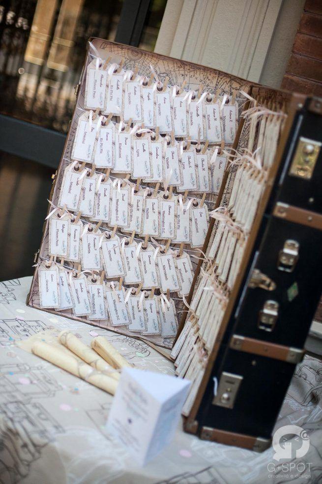 Tableau Vintage Travel Wedding Theme Gspotlabs | Love, paper & co. #Wedding Design Bologna #gspotlabs #Lovepaperandco #tableau #tableaudemariage #matrimonio #travel #vintage