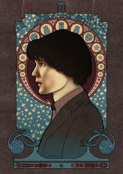 11th Doctor art nouveau , Doctor Who , TARDIS by Koroa