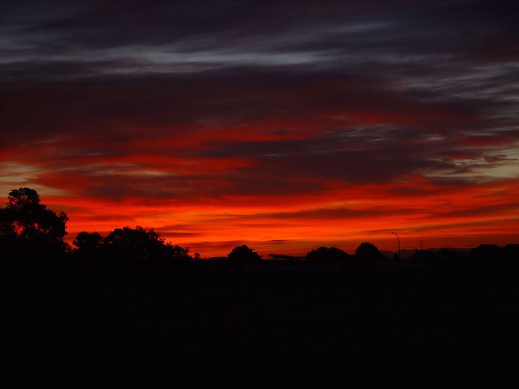 Sunset over Simpson Reserve, Papamoa, NZ.