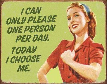 Můžu potěšit pouze jednu osobu denně. Dnes jsem vybrala sebe :-) Taky dobry!