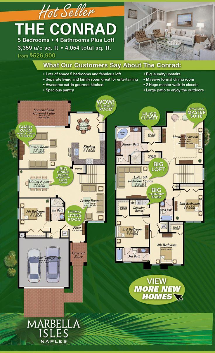 Marbella Isles New Homes Floorplan 96 best