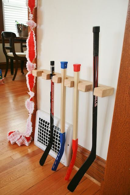 hockey stick rack but for the garage