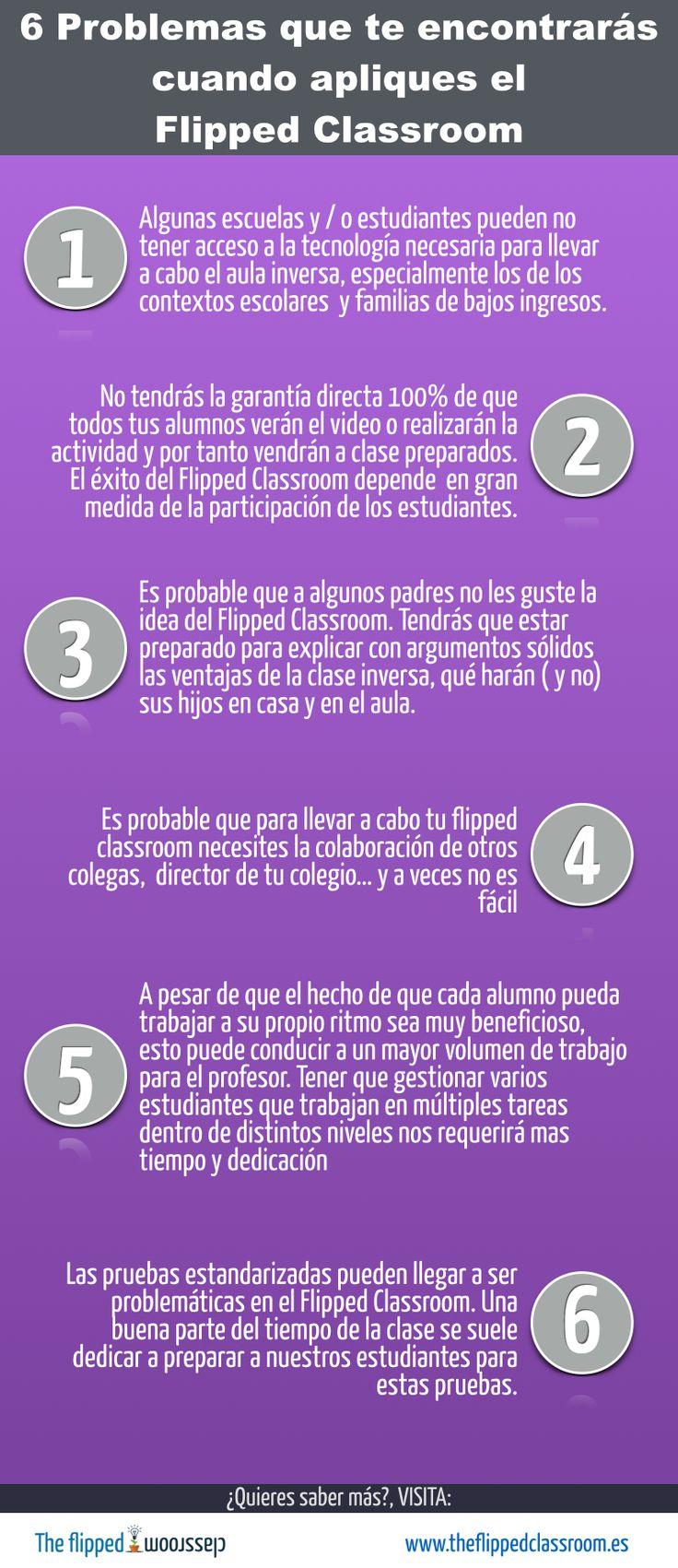 Se exponen 6 problemas que puedes encontrar para aplicar la técnica FlippedClassroom, Juan Antonio Reina,