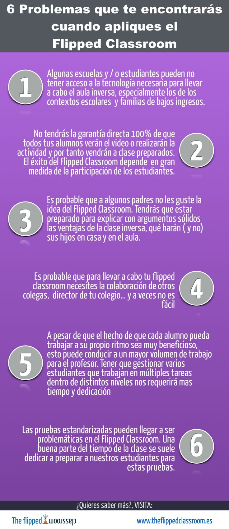 6 problemas que puedes encontrar para aplicar #FlippedClassroom #edtech #sekelcastillo