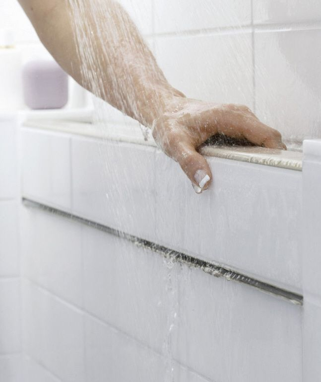 Master Bathroom And Jessicau0027s Bathroom: Example Of Belay Hand Rail By  Kohler, Can Be Installed In High Contrast To Shower Tile. UD Principle  Equitable Use, ...