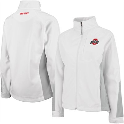 Ohio State Buckeyes Ladies Athena Full Zip Jacket - White