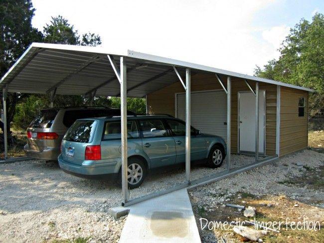 The 25 best diy carport ideas on pinterest carport for Carport shed combo plans