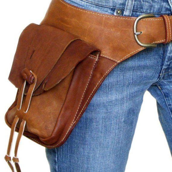 leather hip belt bag