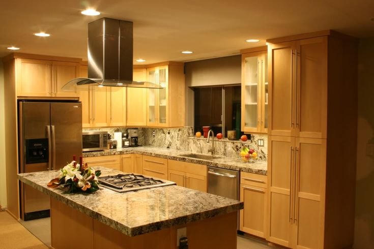 kitchens with natural cherry cabinets/white walls   RE