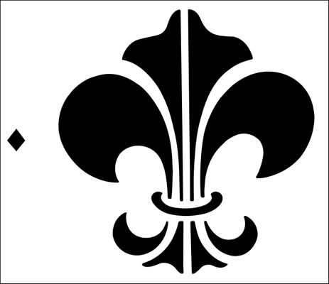 Fleur de Lys No 1 stencil from The Stencil Library GENERAL range. Buy stencils online. Stencil code 31.
