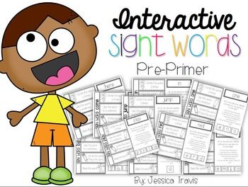 FREE Interactive Sight Words Word Work!  (Pre-Primer) {43 pages}