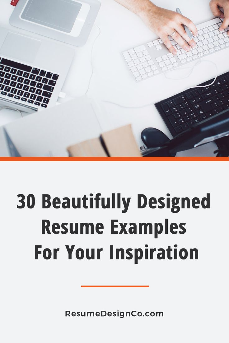 30 beautifully designed resume examples for your inspiration
