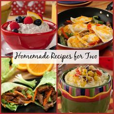 Homemade Meals for Two: 70 Magnificent Recipes for Two | MrFood.com