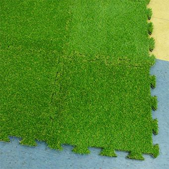 Artificial Grass Turf Tile - Artificial Turf Grass with Padded Backing : Greatmats