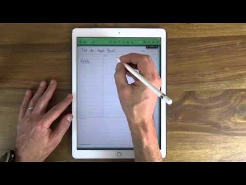 Papierloses Büro: Test des Apple Pencil für das iPad Pro - YouTube