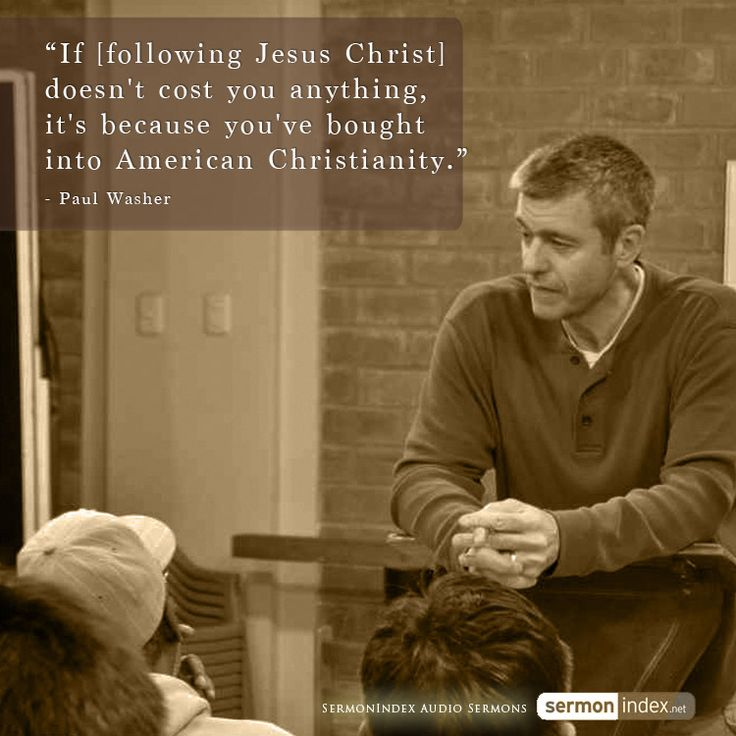 """""""If [following Jesus Christ] doesn't cost you anything, it's because you've bought into American Christianity."""" - Paul Washer #following #cost #american"""