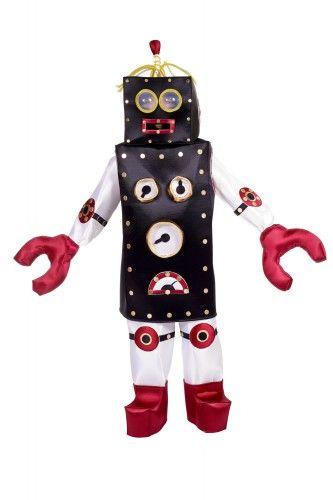 Robot kostuum voor volwassenen. Robot kostuum met plastic voor de ogen waar u doorheen kunt kijken. Het kostuum past tot maat L.