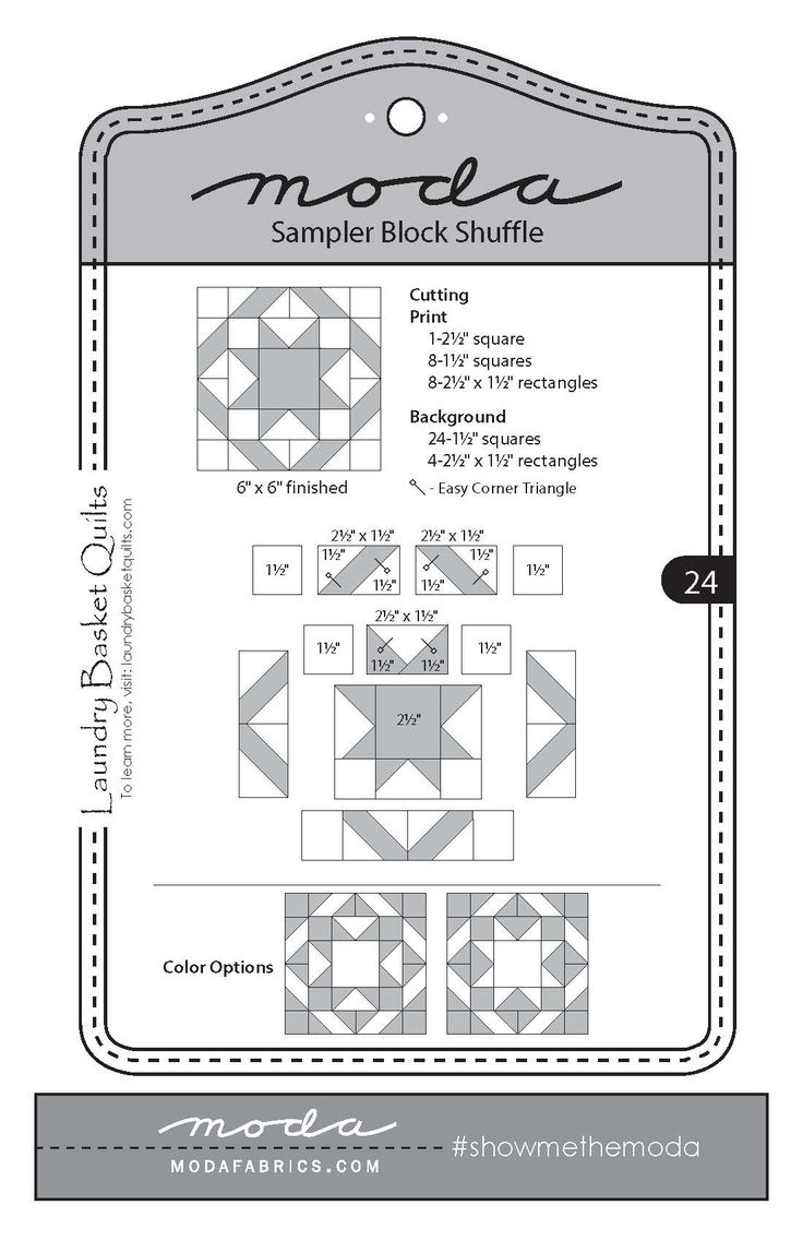 Laundry Basket Quilts - Block 24                              …