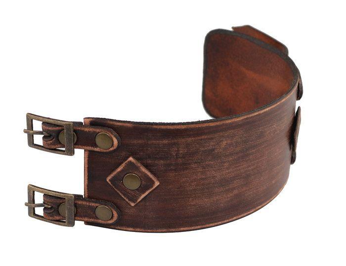 Bracelet Leather Armband Herren Punk LEDERARMBAND BREIT Surferarmband Unisex