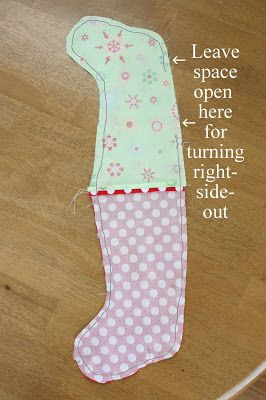 Diary of a Quilter - a quilt blog: Easy Stocking Tutorial - easy way to make a lined stocking