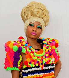 "Nicki Minaj has made pop chart history. The singer is the first act to have 21 successive weeks in the top 10 with one single - ""Starship.""Minaj has received a number of awards, and has set precedents for female rap artists. She became the first female artist to be included on MTV's Annual Hottest MC List. Minaj was named the 2011 Rising Star by Billboard. Brent Staples of The New York Times suggests that some consider her ""the most influential female rapper of all time."