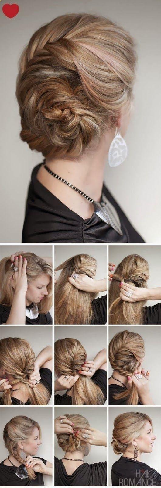 Hair Styles Tutorials: Kinda reminds me of Elsas hair on Frozen ;)