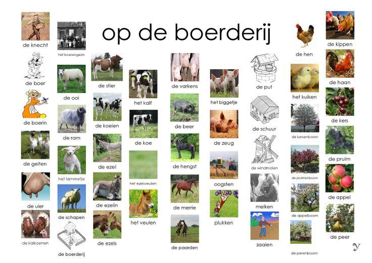 rond de boerderij afkijkkaart