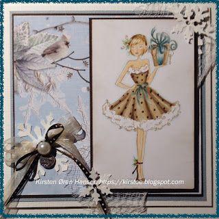 Kirstens Hobbyblogg: Da ble det enda et julekort.