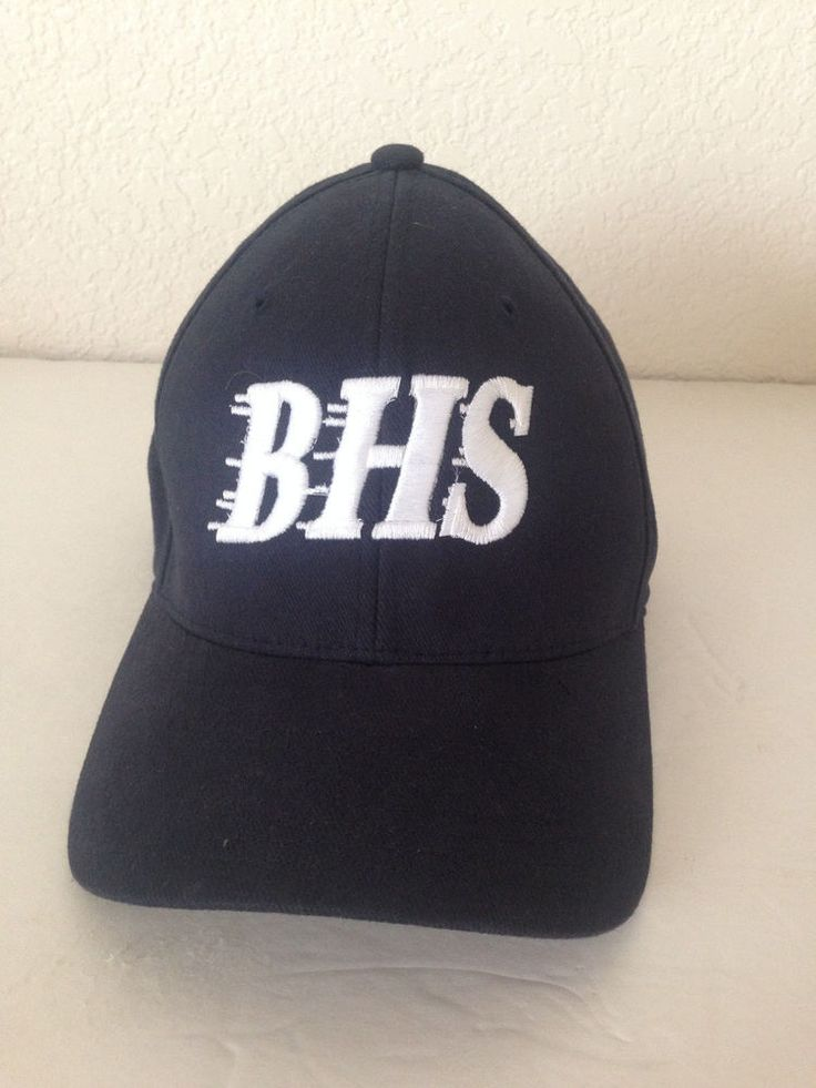 Flexfit BHS Bakersfield High School Baseball Blue Cap Hat Small Large