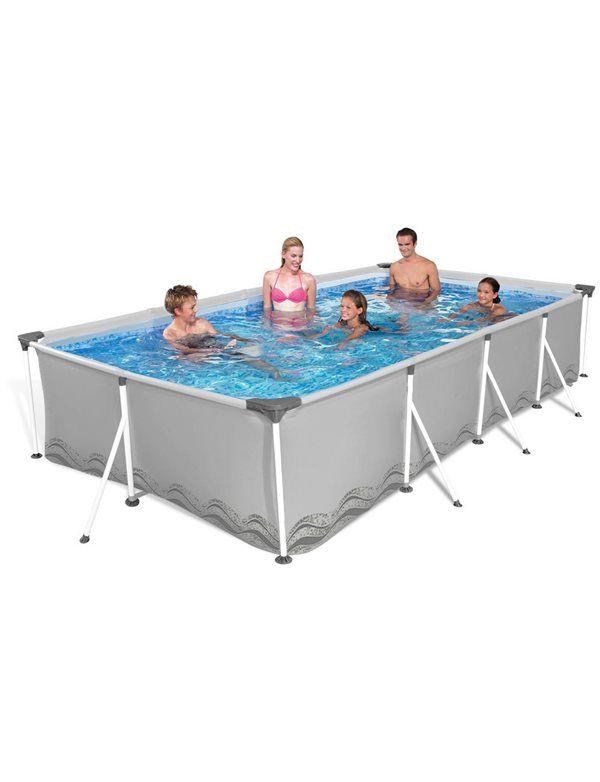 Piscina rettangolare con struttura per il divertimento di tutta la famiglia! Shop online: https://goo.gl/oo9CyL #piscina #piscinafuoriterra #piscinarettangolare #estate #giardino #caldo #sole #summer #family #divertimento #famiglia #friends #poolparty #amici #tuttiinpiscina #fun #pool