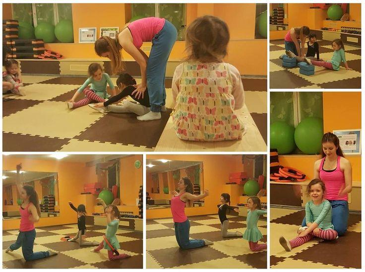 Детская ритмическая #гимнастика  Сегодня был открытый урок. Не все детишки дошли до конца