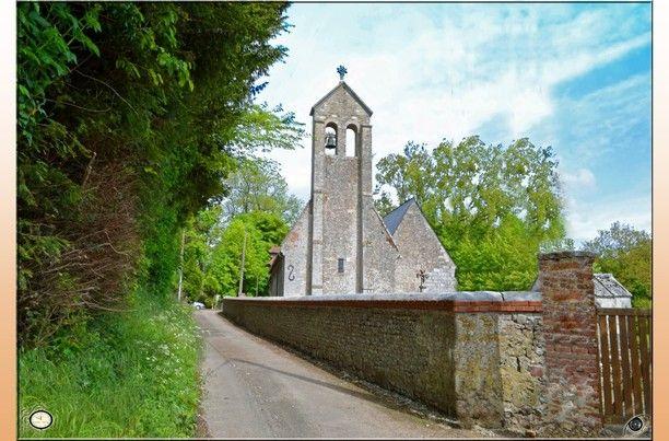 église de Sainte-Geneviéve, Beauval-en-Caux, France — by France Normandie. hidding in the country thi lovely Sainte geneviévre church