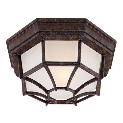 "Wildon Home ® 1-Light Outdoor Flush Mount Size: 5"" H x 11"" W"