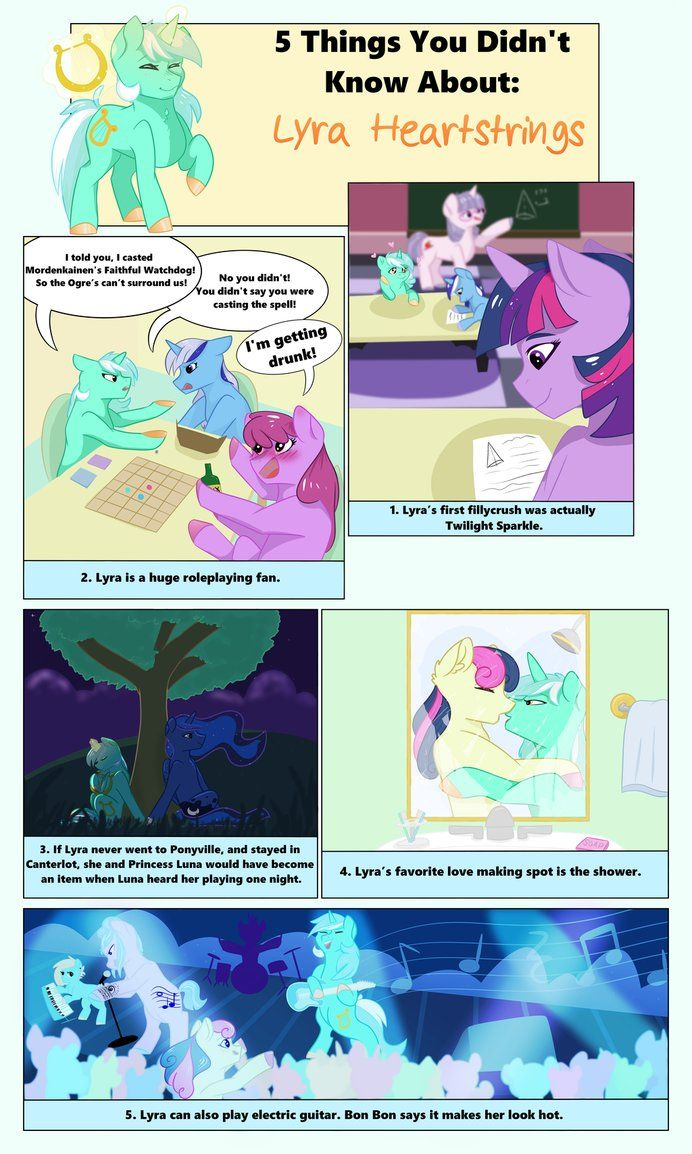 5 Things You Didn't Know About: Lyra Heartstrings by Rated-R-PonyStar.deviantart.com on @DeviantArt