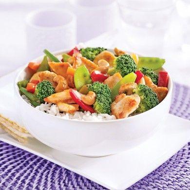 Sauté de poulet aux noix de cajou - Soupers de semaine - Recettes 5-15 - Recettes express 5/15 - Pratico Pratiques