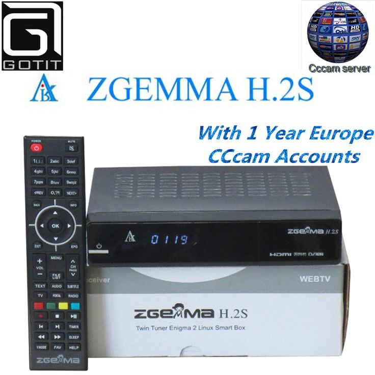 Zgemma Star H.2S Satellite Receiver Linux OS DVB-S2 Twin Tuner Decoder with 1 Year Europe Spain UK Italy French CCcam account