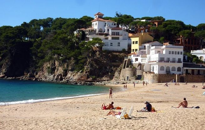 Playa de Llafranch, Costa Brava, Spain