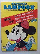 NATIONAL LAMPOON  MAGAZINE 1970 ISSUE #6 SEPTEMBER VOL 1 MAGAZINE NEWSSTAND