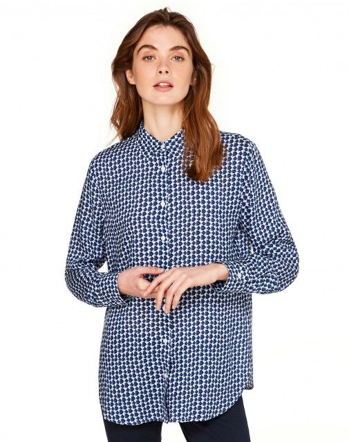 Shop Patterned shirt Blue for Shirts And Blouses at the official United Colors of Benetton online shop.
