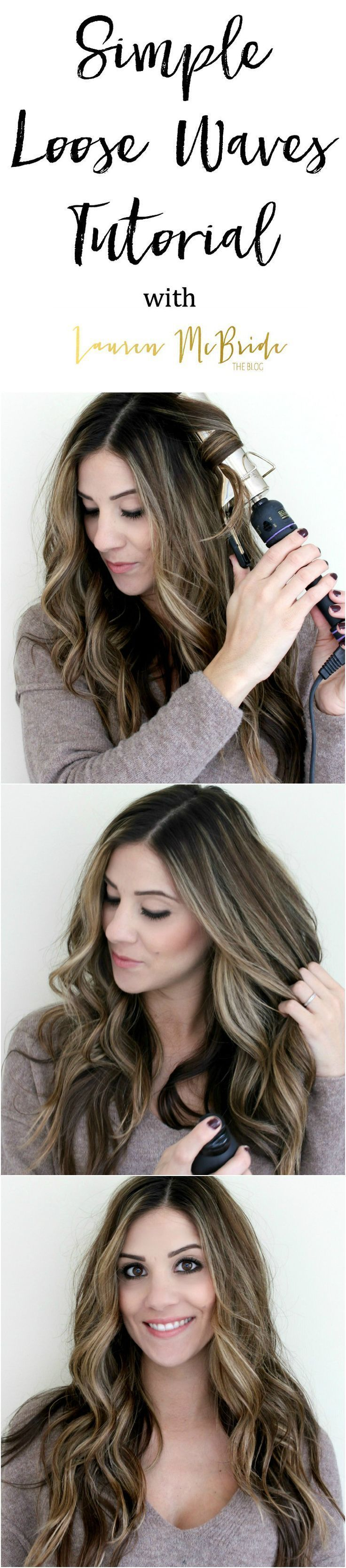 Simple Loose Waves Tutorial | DIY Hair Tutorial | Hair Tutorial Tips | Hair Tutorial | DIY Hair Styles | How to Curl Hair | Hair Curling Tutorial || Lauren McBride