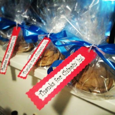 """Thanks for Chippin' In!""- Chocolate Chip #Cookie #Thank You #gifts"