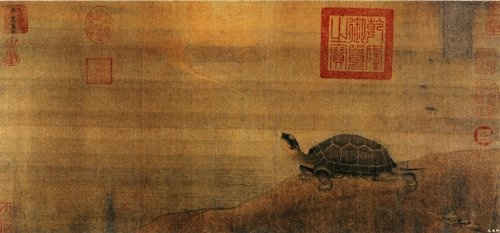 Divine Turtle, painting by Zhang Gui .: Chang Si, Beijing Palace, Turtles, Chinese Art