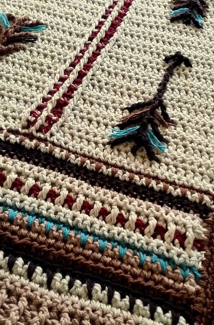 Native American Art Inspired Crochet Blanket. Great for a ...