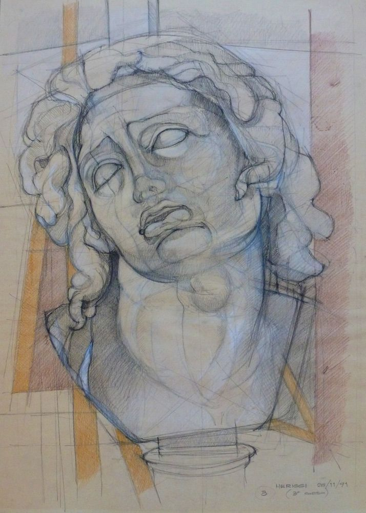 Disegno dal vero, matita, 1991 (da modello in gesso)