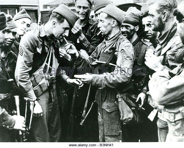British commandos after the Dieppe raid, August 1942.