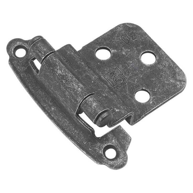 Hickory Hardware Surface Self-Closing Offset Hinge - Set of 2 - P243-VP, BELW408-7