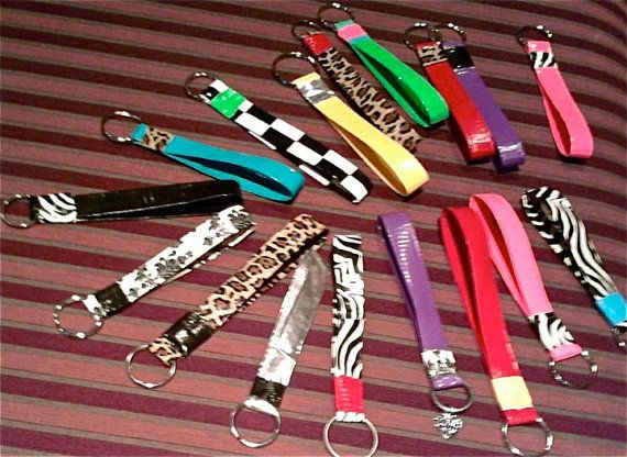 Duct tape key rings.  It's and etsy thing with no tutorial, but I think we could figure it out.