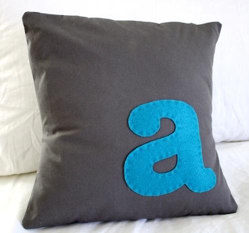 monogrammed throw pillows