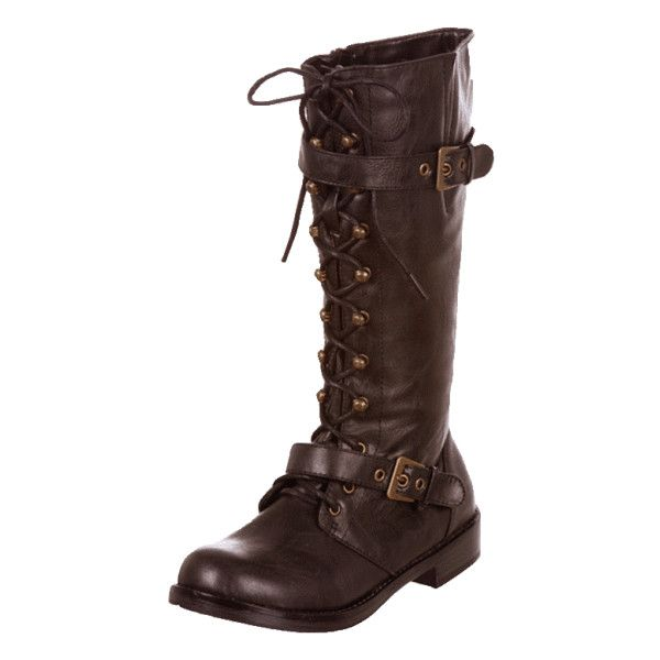 Women's Steampunk Casual Boot Brown | Steampunk Clothing, Corsets, Costumes, Jewelry, Dresses, Hats & Oddities @ Clockwork Couture ($40) found on Polyvore