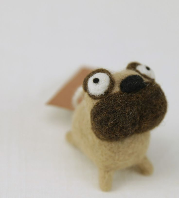 Needle Felting Pug Kit - Woolbuddy
